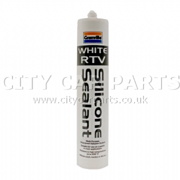 GRANVILLE WHITE RTV SILICONE SEALANT ADHESIVE GASKET 310ml CARTRIDGE - TOP BRAND